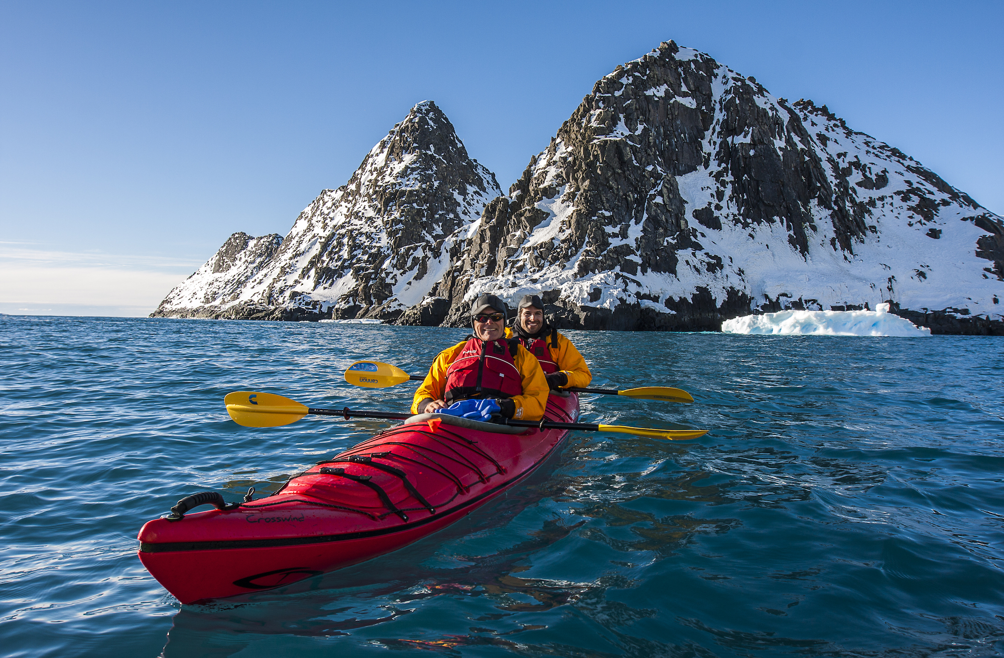 Sea kayaking in Antarctica
