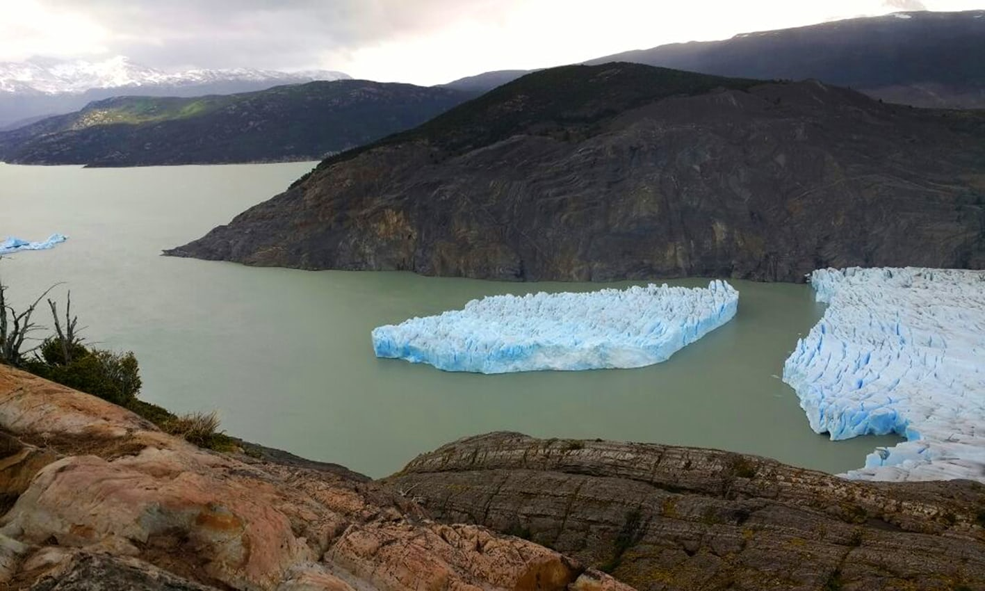 sectioning of grey glacier